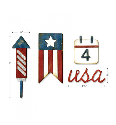 662712 Sizzix Tim Holtz Thinlits with Text.Fades Americana