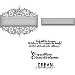 SDS055 Spellbinders Stamp & Die Set Beautiful Dreamer