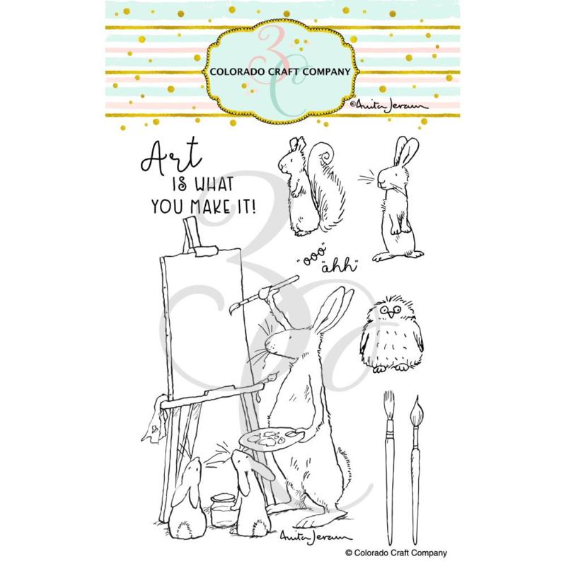 "C3AJ503 Colorado Craft Company Clear Stamps Art Is-By Anita Jeram 4""X6"""
