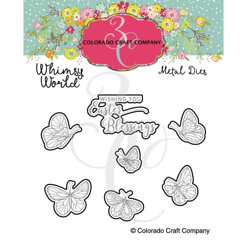653843 Colorado Craft Company Metal Die Set Rose Cross-Whimsy World