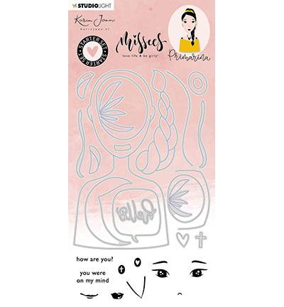 BASICSDCKJ06 StudioLight KJ Stamp & Cutting Die Starter set Primarina Missees Collection nr.6