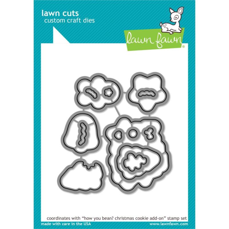 LF2034 Lawn Cuts Custom Craft Die How You Bean? Christmas Cookie Add-On