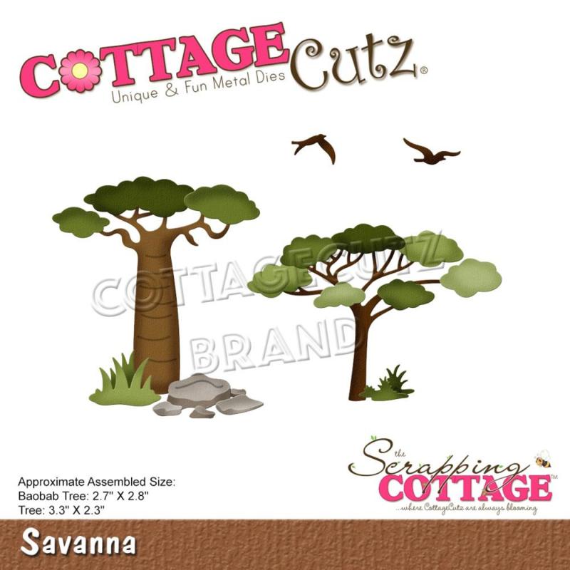 """CC852 CottageCutz Dies Savanna 3.3"""" To 2.3"""""""