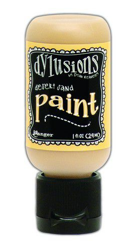 306610/0696 Ranger Dylusions Paint Flip Cap Bottle Vanilla Custard 29ml