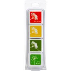 388497  Hero Arts Dye Ink Cubes 4 Colors Nasturtium Layering