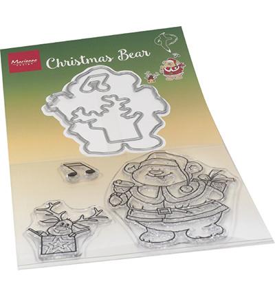 HT1658 Marianne Design Stamp + die set Hetty's Christmas bear