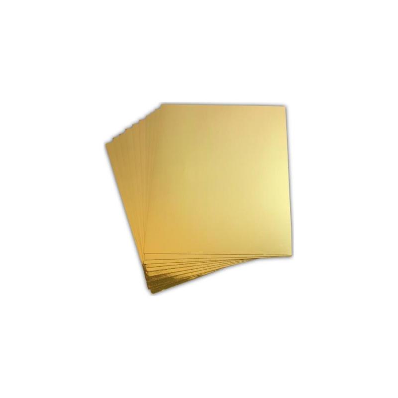 """616363 Heartfelt Creations Luxe Metallic Cardstock Gold 8.5""""X11"""" 12/Pkg"""