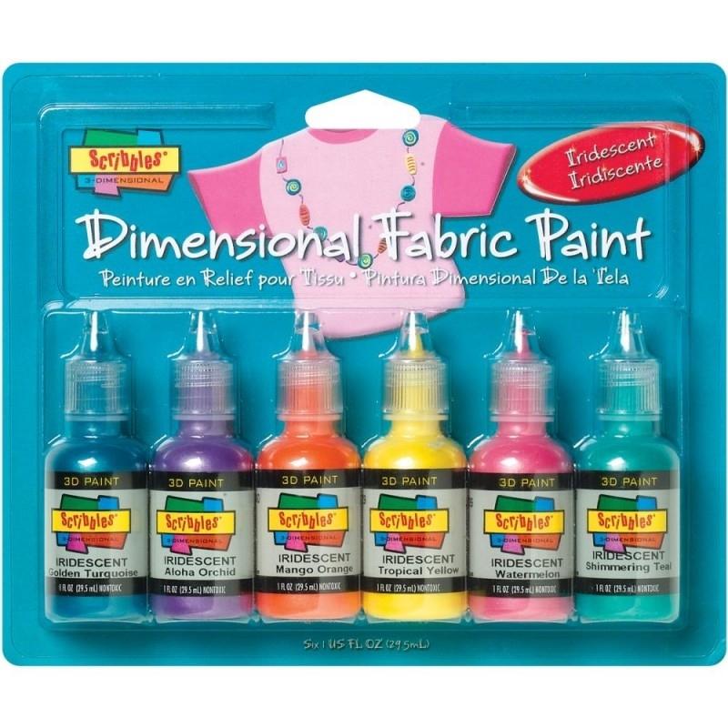 359459 Scribbles 3D Fabric Paint Iridescent