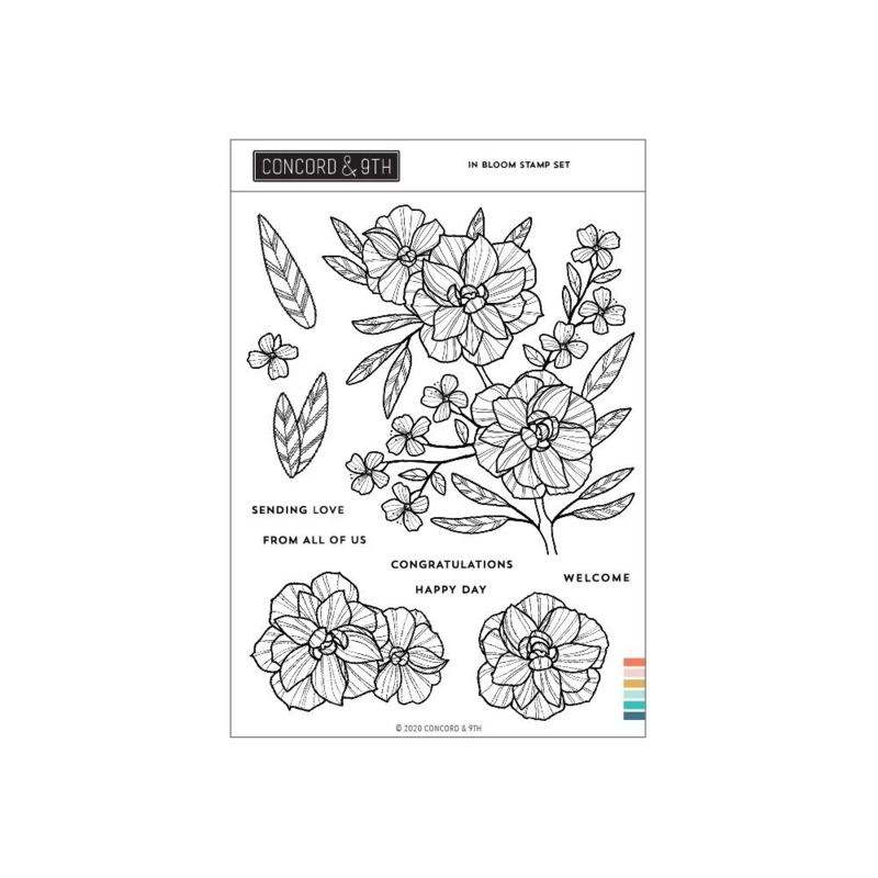 """645389 Concord & 9th Clear Stamps In Bloom 6""""X8"""""""
