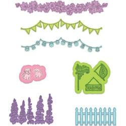 "594600 Heartfelt Creations Cut & Emboss Dies Elements Of Home 1"" To 4.5"""
