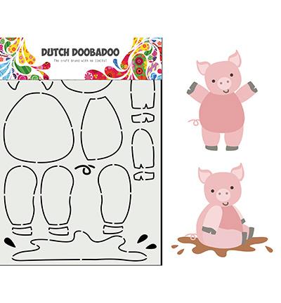 470.713.858 Dutch DooBaDoo Card Art Built up Varkentje