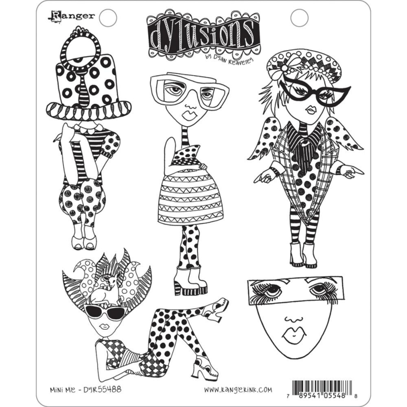 "466640 Dyan Reaveley's Dylusions Cling Stamp Collections Mini Me 8.5""X7"""
