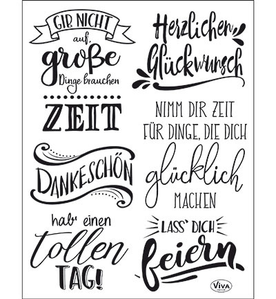 4003.168.00 ViVa Clear Stamps Lettering deutsch
