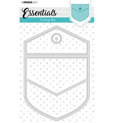 STENCILSL367 STENCILSL368 StudioLight Cutting & Emb. Die Cardshape Trilogy Flower Essentials nr.368 Cutting & Emb. Die Cardshape Back pocket Essentials nr.367