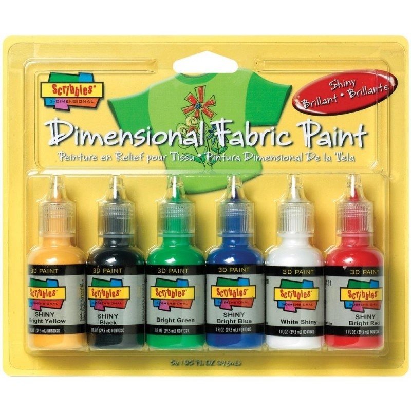 359458 Scribbles 3D Fabric Paint Shiny