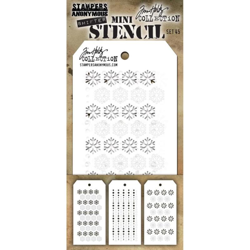 610817 Tim Holtz Mini Layered Stencil Set #45