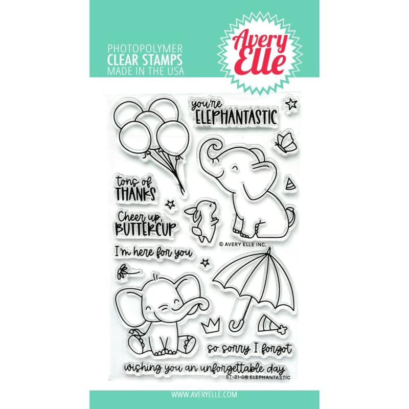 "647297 Avery Elle Clear Stamp Set Elephantastic 4""X6"""