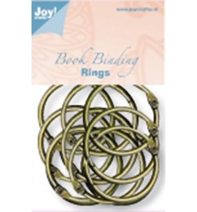 6200/0133 Boekbinders-ringen Antiek/koper 45 mm