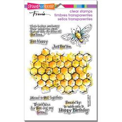 """247868 Stampendous Perfectly Clear Stamps Honeycomb Wishes 7.25""""X 4.625"""""""