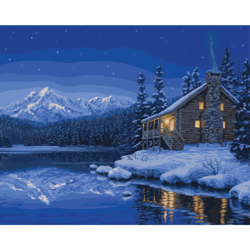 "307208 Paint By Number Kit Quiet Camp 16""X20"""