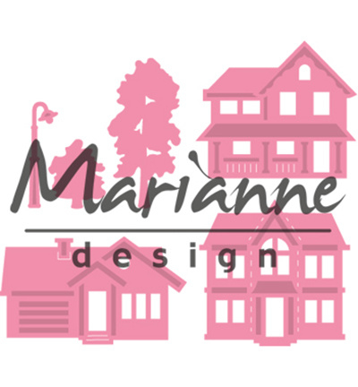 COL1451 Marianne Design Collectables Mini village