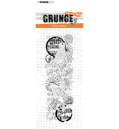 SL-GR-STAMP37 StudioLight Clear Stamp Birds Grunge Collection nr.37