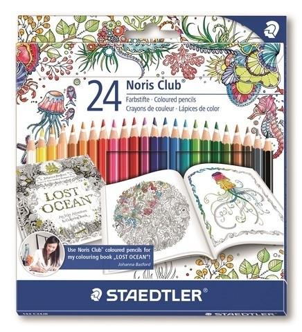 320200/0125 Staedtler Noris Club Johanna Basford kleurpotlood set 24 st