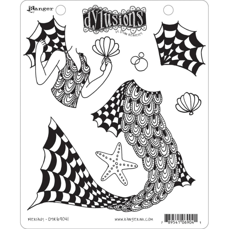 """602349 Dyan Reaveley's Dylusions Cling Stamp Collections Merlady 8.5""""X7"""""""