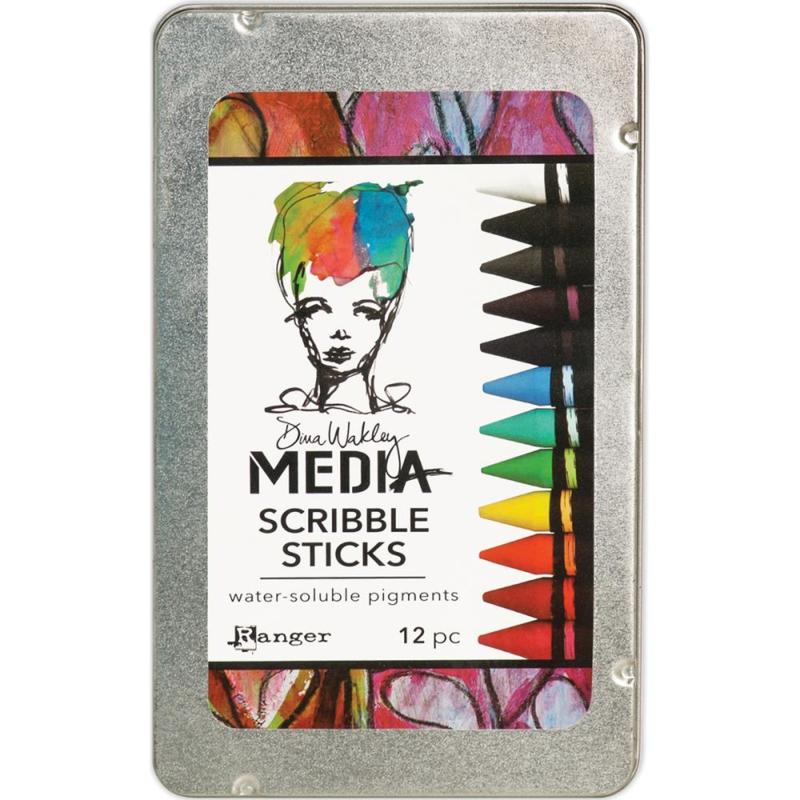 390194 Dina Wakley Media Scribble Sticks 12/Pkg