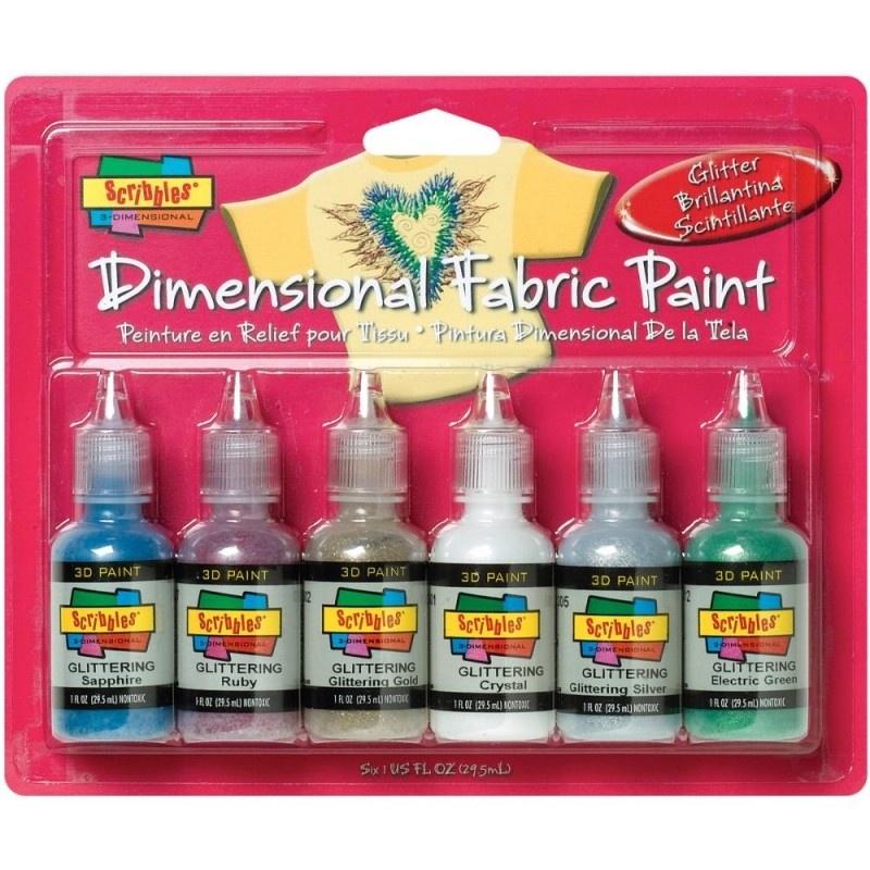 359460 Scribbles 3D Fabric Paint Glittering