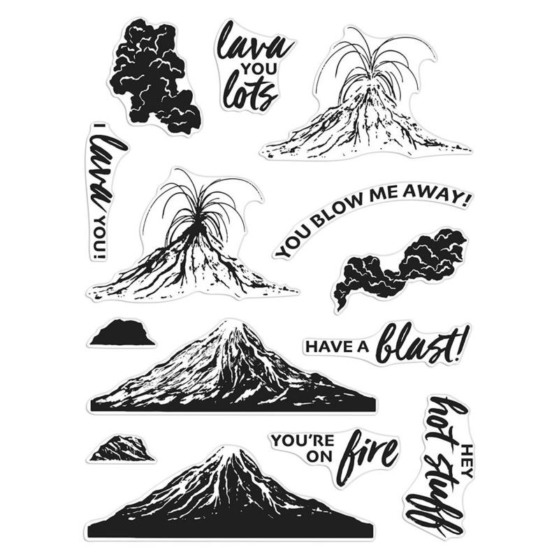 "650009 Hero Arts Clear Stamps Volcano Heroscape 6""X8"""