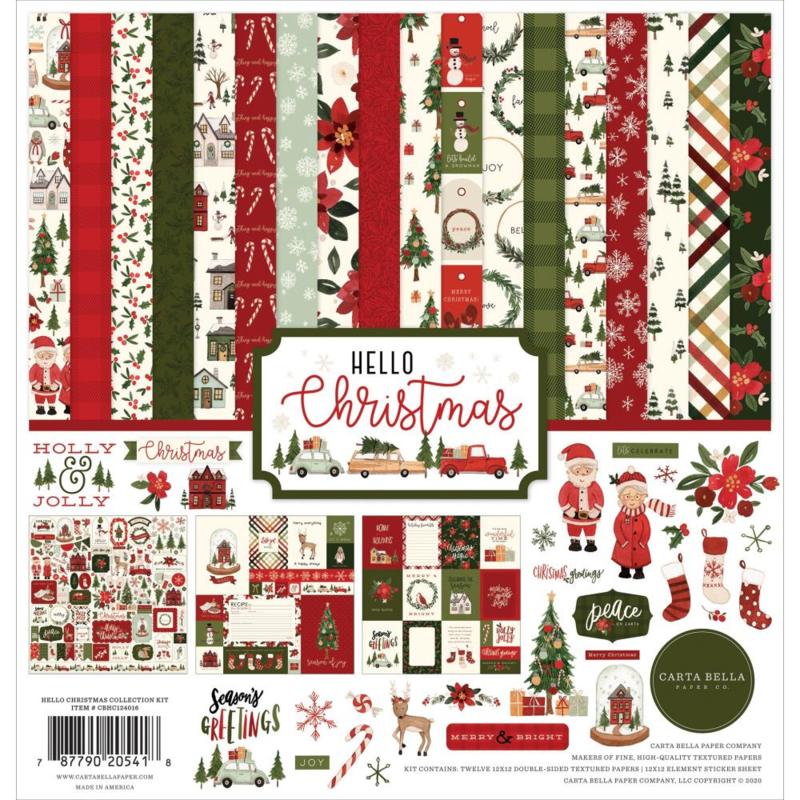 """CBDE125016 Carta Bella Collection Kit Dear Santa 12""""X12"""""""