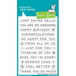 """LF1601 Lawn Fawn Clear Stamps Simply Sentiments 4""""X6"""""""