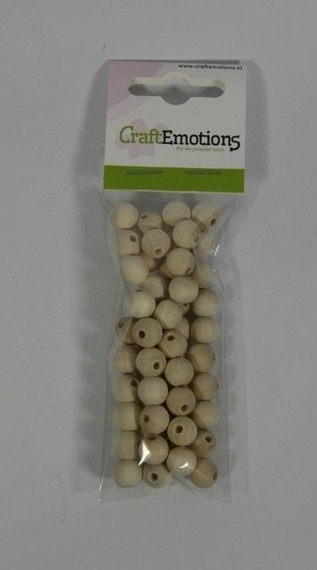 810100/0010 Craftemotions Ronde houten kraal, naturel 10mm 56 st
