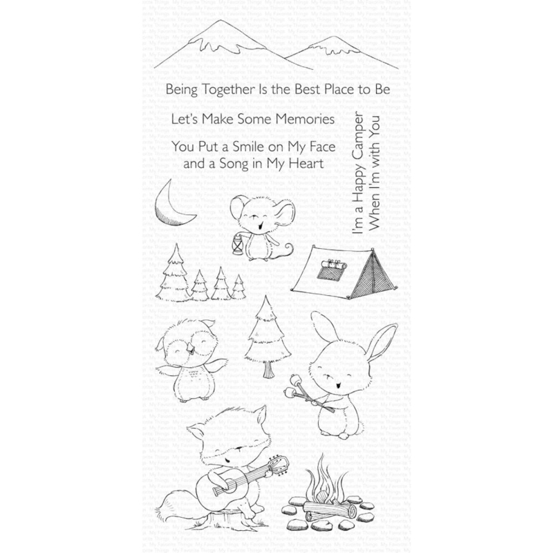 """SY21 My Favorite Things Stacey Yacula Stamps Happy Campers 4""""X8"""""""