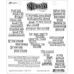 222420 Dyan Reaveley's Dylusions Cling Stamp Quintessential Quotes
