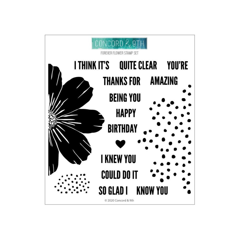 "625692 Concord & 9th Clear Stamps Forever Flower 6""X6"""
