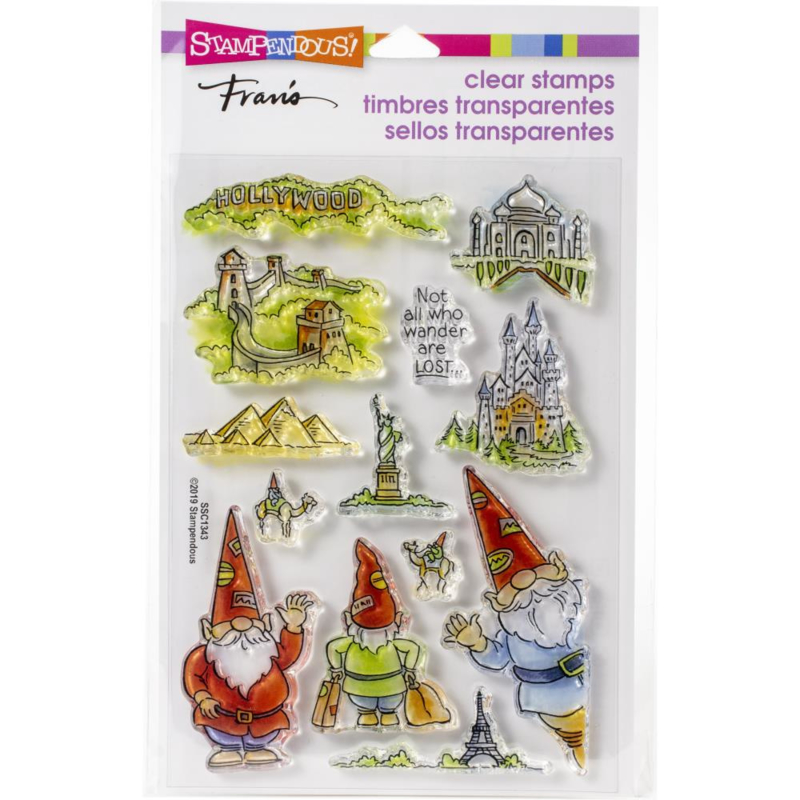 615375 Stampendous Perfectly Clear Stamps Gnome Travels