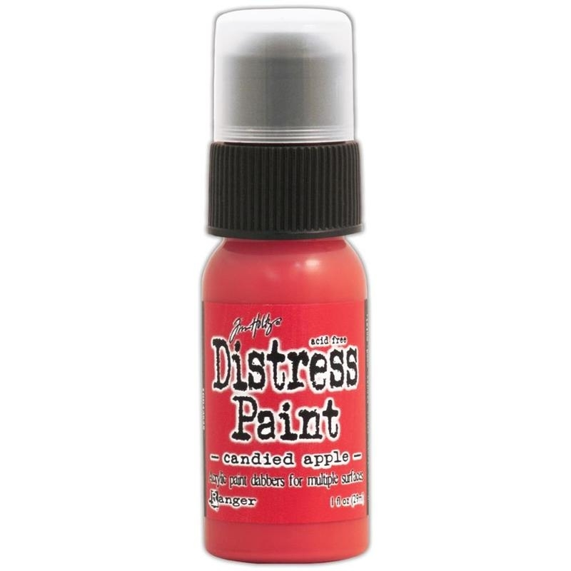 535411 Distress Paint December-Candied Apple 1oz Bottle