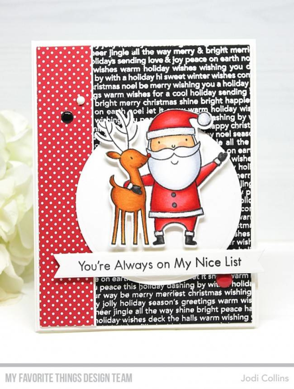 BG-102 My Favorite Things Christmas Background Stamp