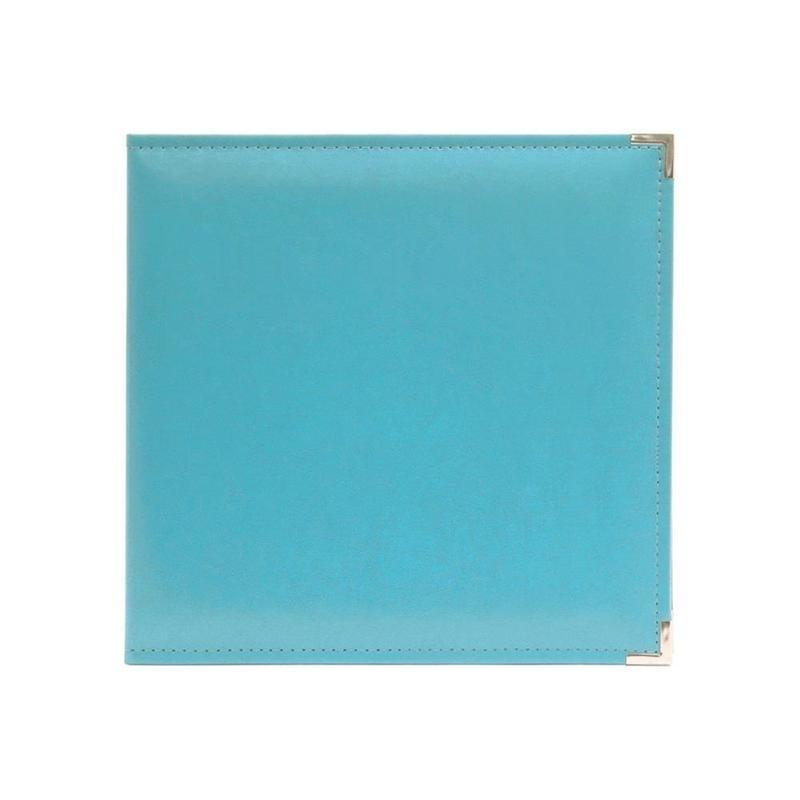 """517010 We R Classic Leather 3-Ring Album Aqua  12""""X12"""""""