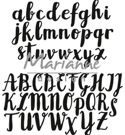 CR1416 Craftables Brush alphabet