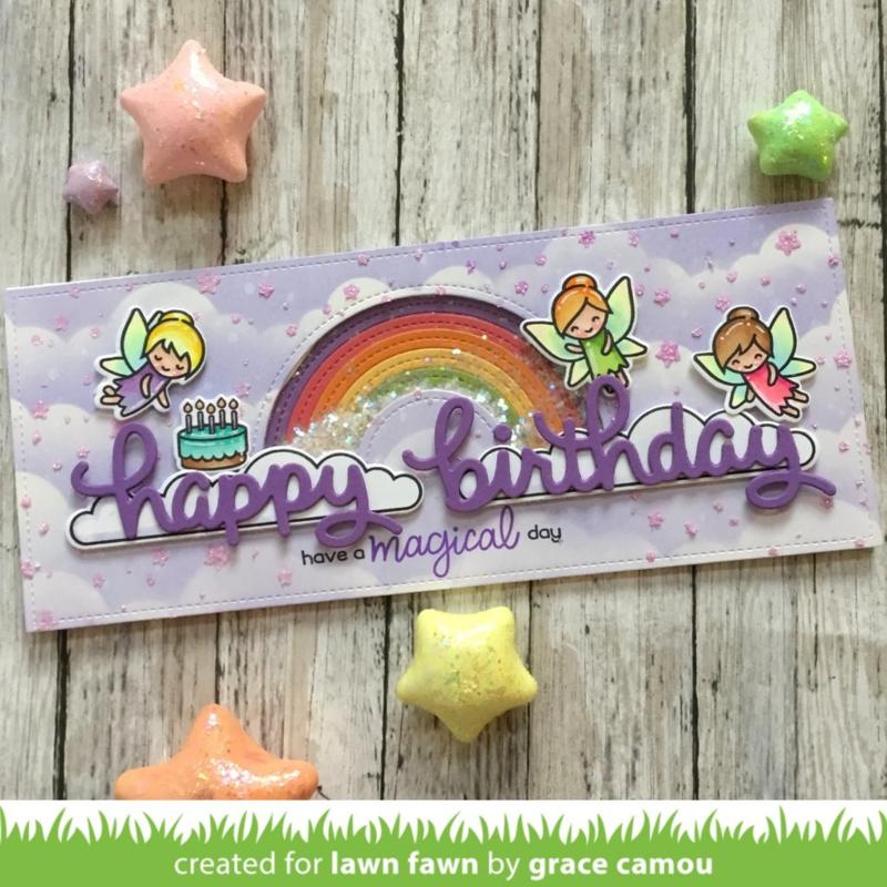 LF2354 Lawn Fawn Scripty Birthday Dies