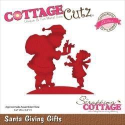 """506474 CottageCutz Elites Die Santa Giving Gifts 3.2""""X3.2"""""""