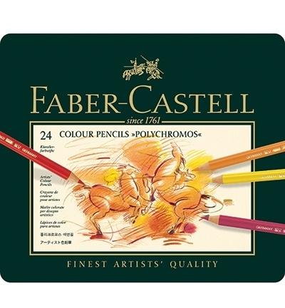 110024 Faber Castell Polychromos set FC Polychromos Metalen etui a 24st