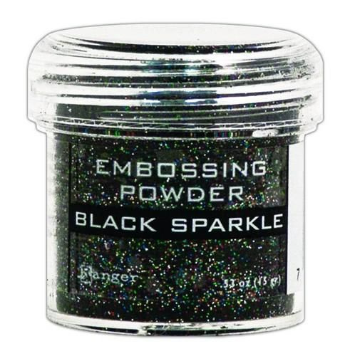 EPJ37460 Ranger Embossing Powder Black Sparkle