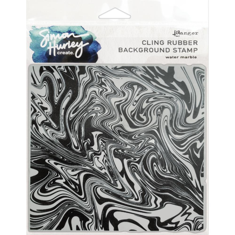 """HUR67 75486 Simon Hurley create. Cling Stamps  Water Marble 6""""X6"""""""