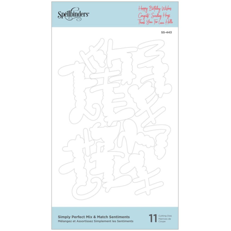 S5443 Spellbinders Etched Dies Simply Perfect Mix & Match Sentiments