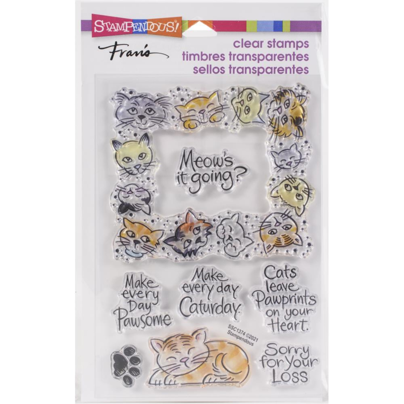 645708 Stampendous Perfectly Clear Stamps Kitty Frame