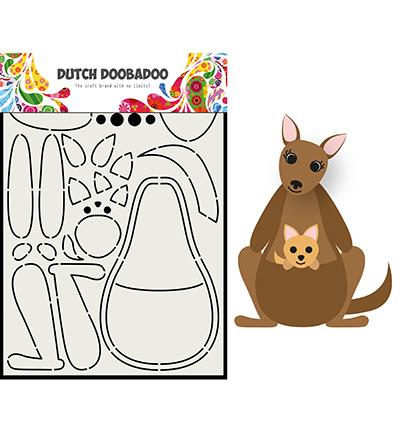 470.713.841 Dutch DooBaDoo Card Art Built up Kangaroo